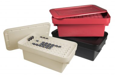 colored tooling storage boxes