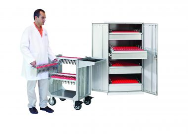 LISTA PUNCH HOLDER CABINET WITH 4 DRAWERS AND 16 BRACKETS