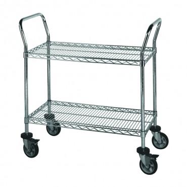 Chrome-Wire Utility Cart